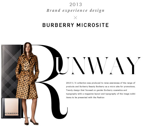 Brand experience design BurBerry Microsite